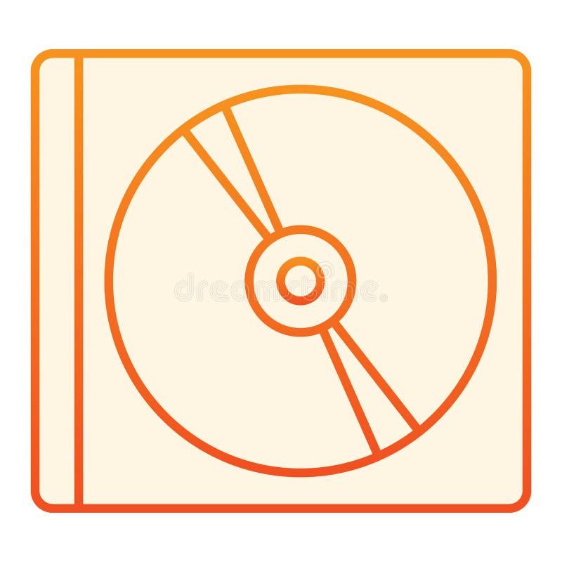 Icono plano del disco Iconos anaranjados del almacenamiento en estilo plano de moda Diseño del estilo de la pendiente de la impu ilustración del vector