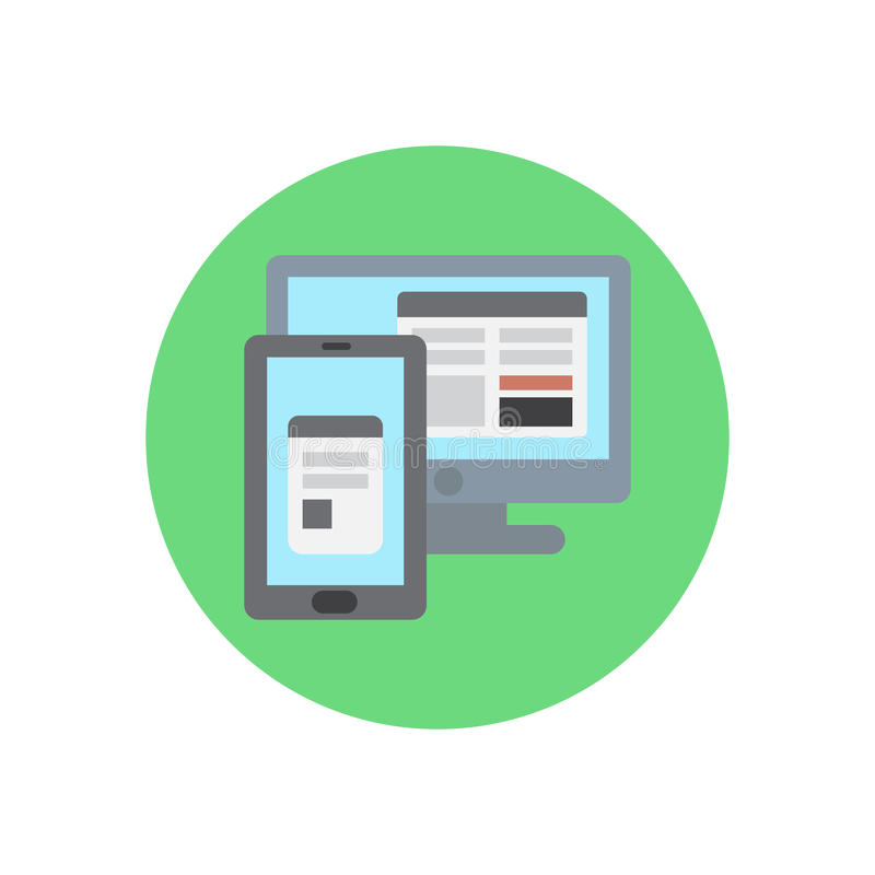 Icono plano del diseño ajustable responsivo libre illustration