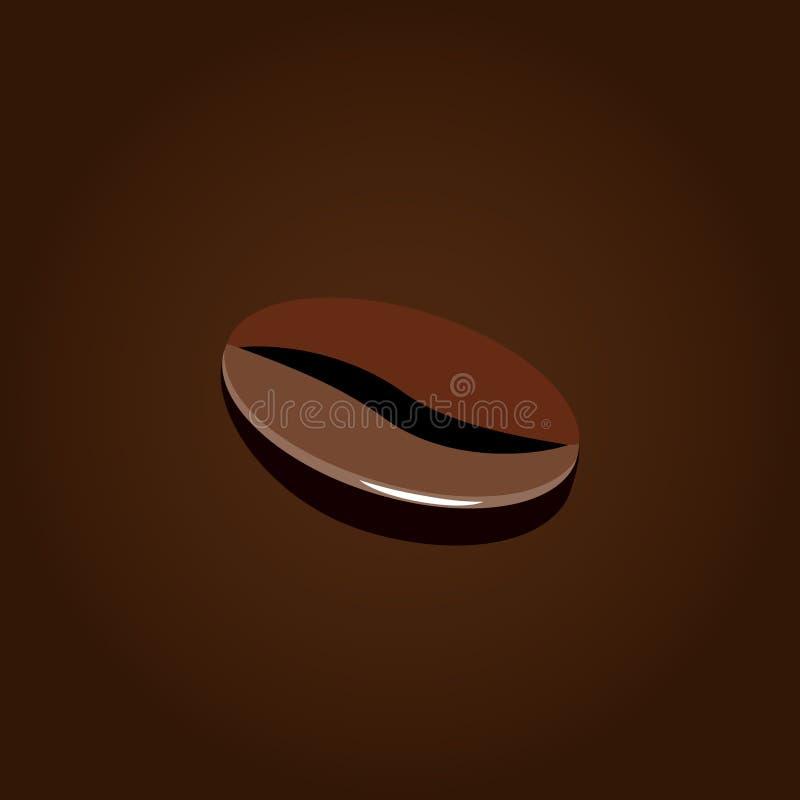 Icono plano del diseño del grano de café foto de archivo libre de regalías