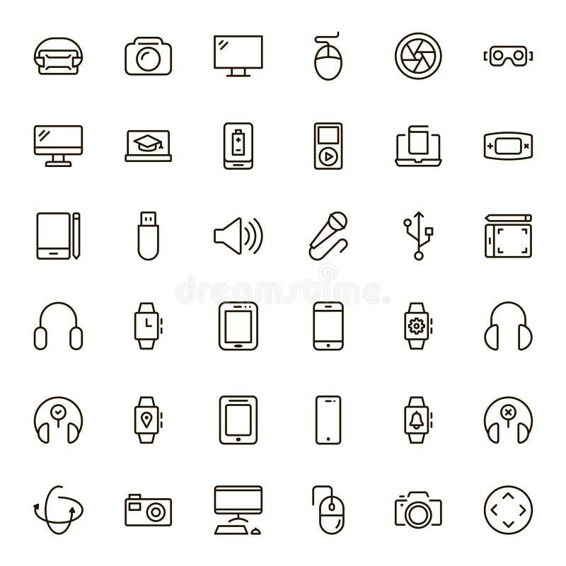 Icono plano del dispositivo stock de ilustración
