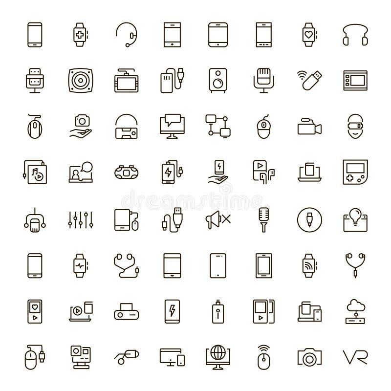 Icono plano del dispositivo libre illustration