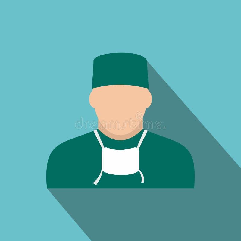Icono plano del doctor libre illustration