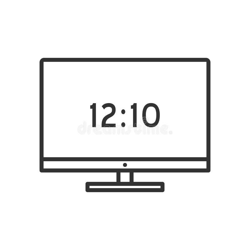 Icono plano del esquema de escritorio de la pantalla en blanco libre illustration