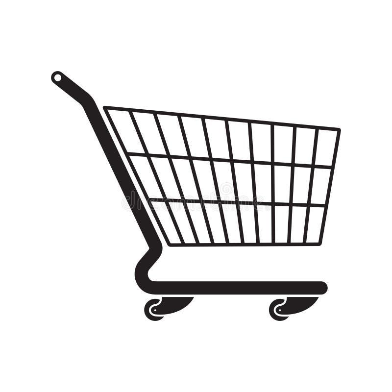 Icono plano del estilo del carro de la compra para su diseño ilustración del vector