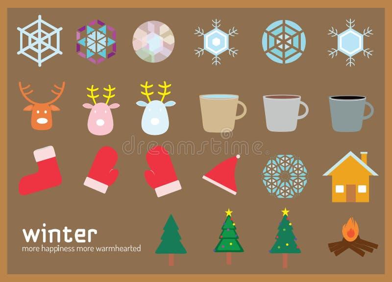 Icono plano del invierno imágenes de archivo libres de regalías