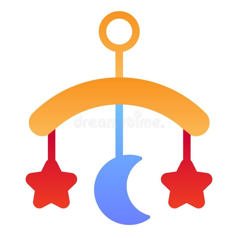 Icono plano del juguete del pesebre del beb? Iconos colgantes del color del juguete en estilo plano de moda Dise?o del estilo de  libre illustration