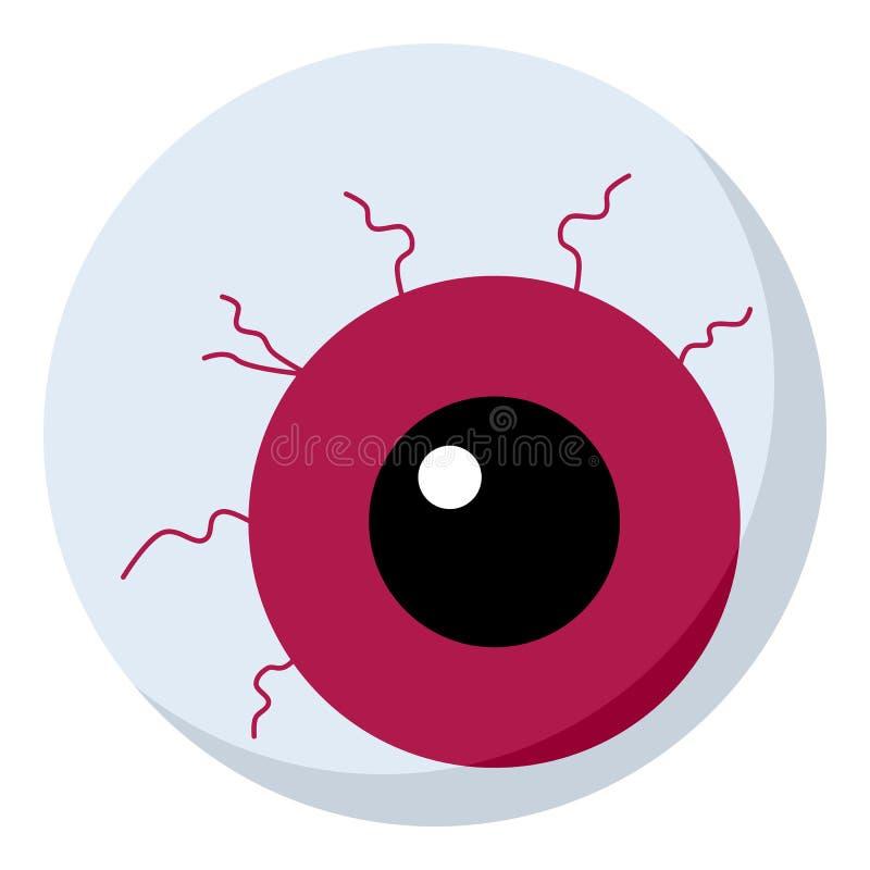 Icono plano del ojo asustadizo aislado en blanco libre illustration