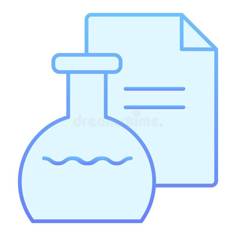 Icono plano del remedio Iconos azules de la mezcla en estilo plano de moda Diseño médico del estilo de la pendiente de la botella libre illustration