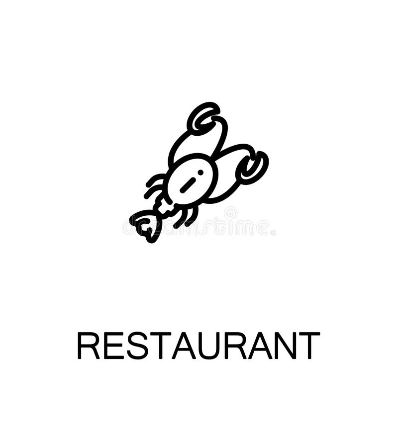 Icono plano del restaurante libre illustration