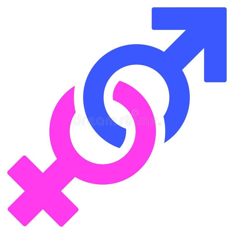 Icono plano del símbolo de la confrontación del género libre illustration