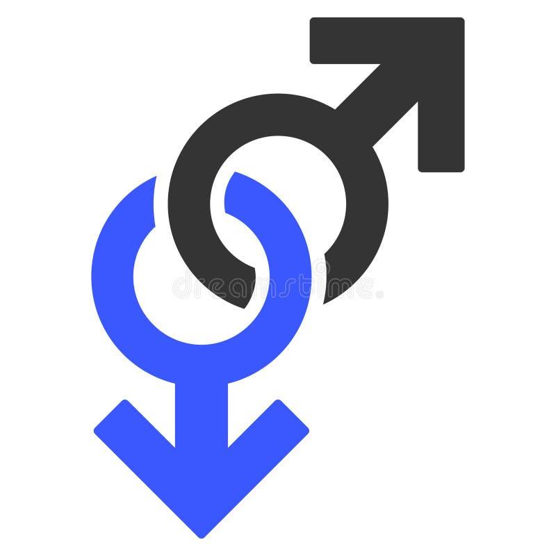 Icono plano del símbolo gay ilustración del vector