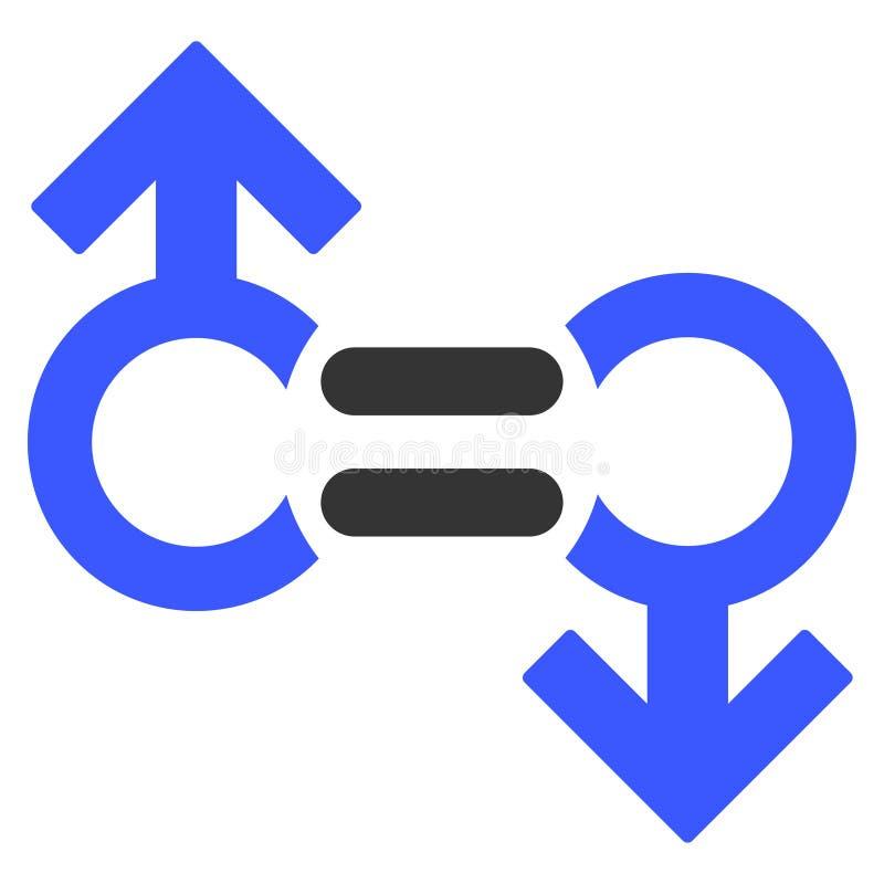 Icono plano del símbolo gay de la relación stock de ilustración