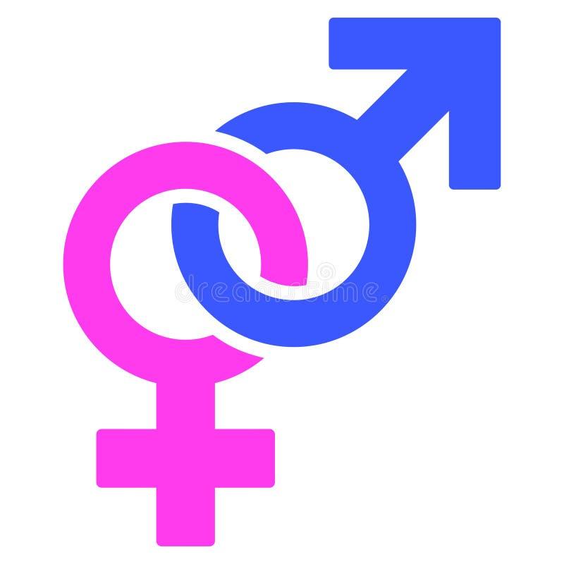 Icono plano del sex symbol recto libre illustration