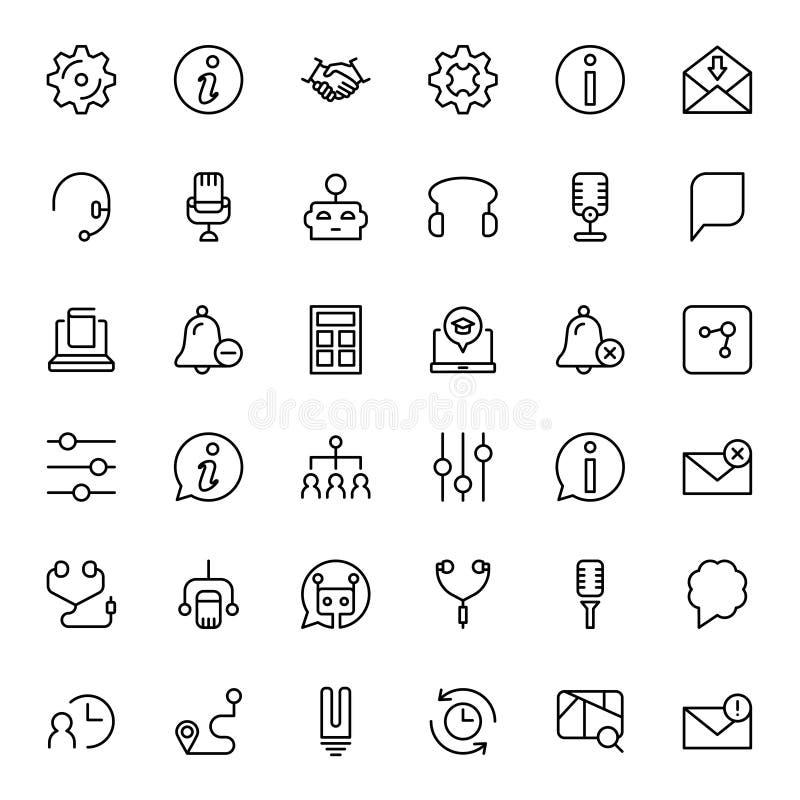 Icono plano del soporte técnico libre illustration