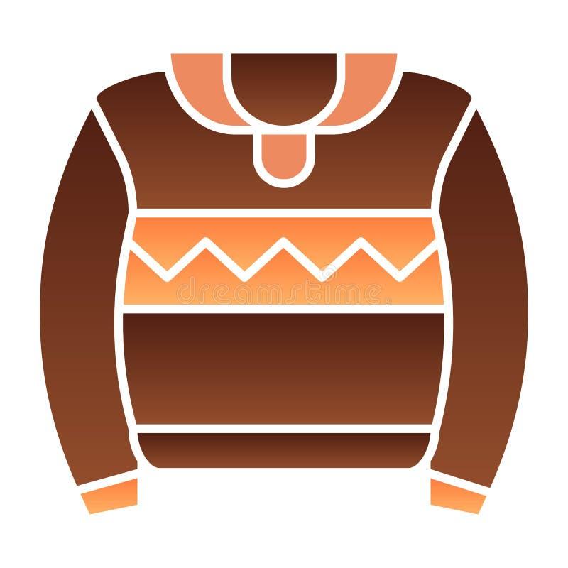 Icono plano del suéter Iconos del color del puente en estilo plano de moda Dise?o caliente del estilo de la pendiente de la ropa, libre illustration