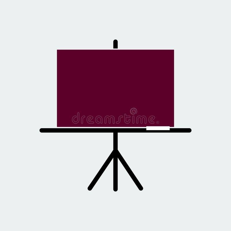 Icono plano del tablero del negro de la presentaci?n Ilustraci?n del vector imagen de archivo