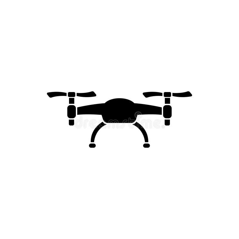 Icono plano del vector del abejón del aire stock de ilustración