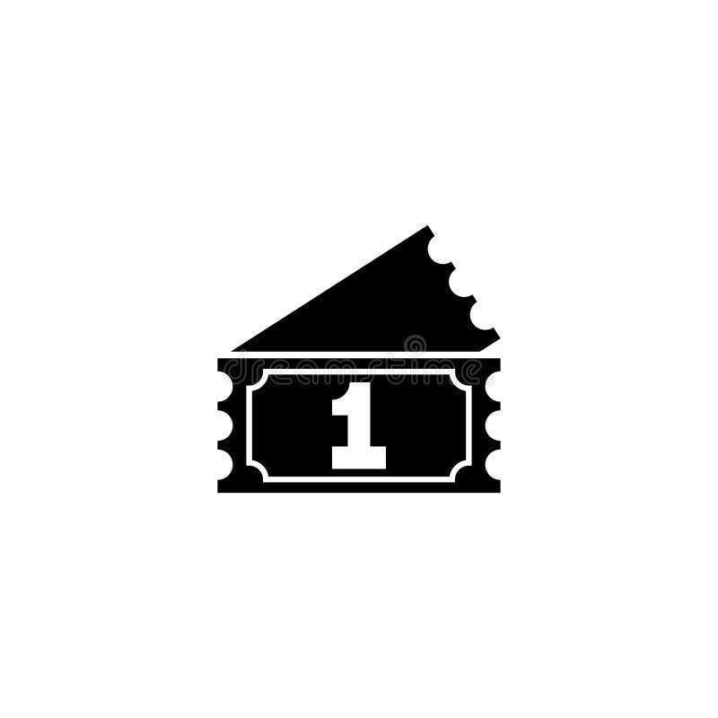 Icono plano del vector del boleto de la rifa ilustración del vector