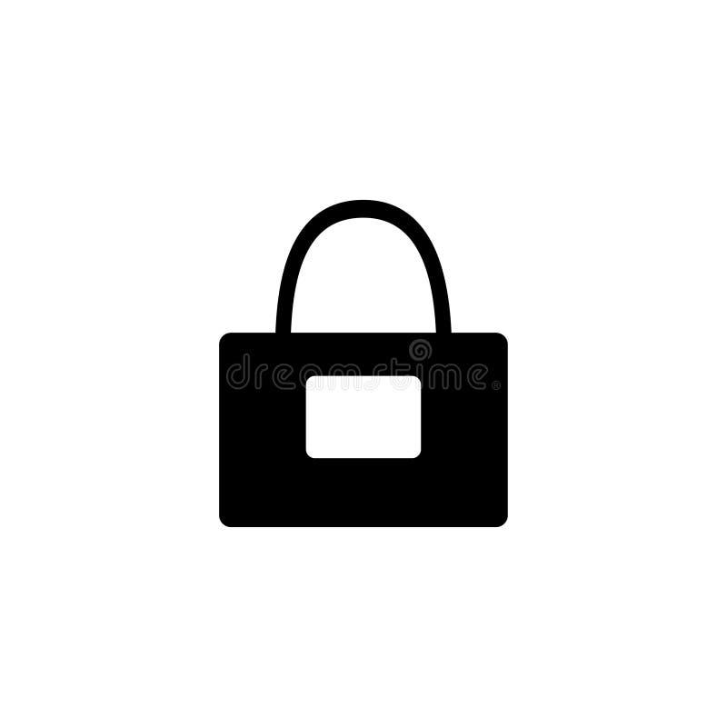 Icono plano del vector del bolso de la moda libre illustration
