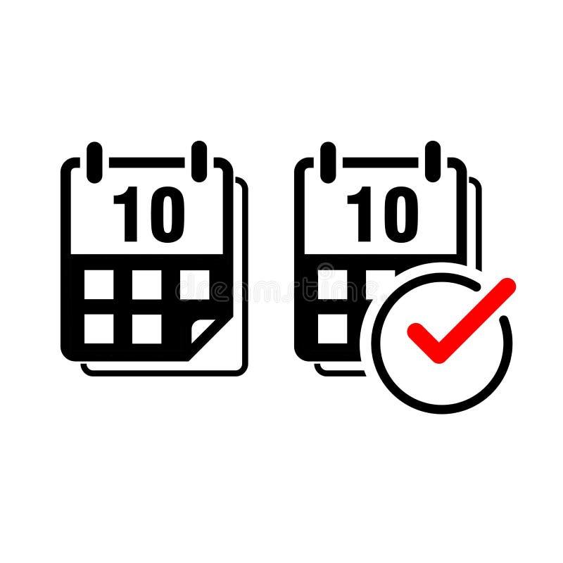 Icono plano del vector del calendario foto de archivo libre de regalías