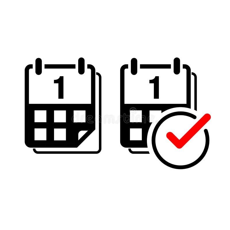 Icono plano del vector del calendario imagen de archivo libre de regalías