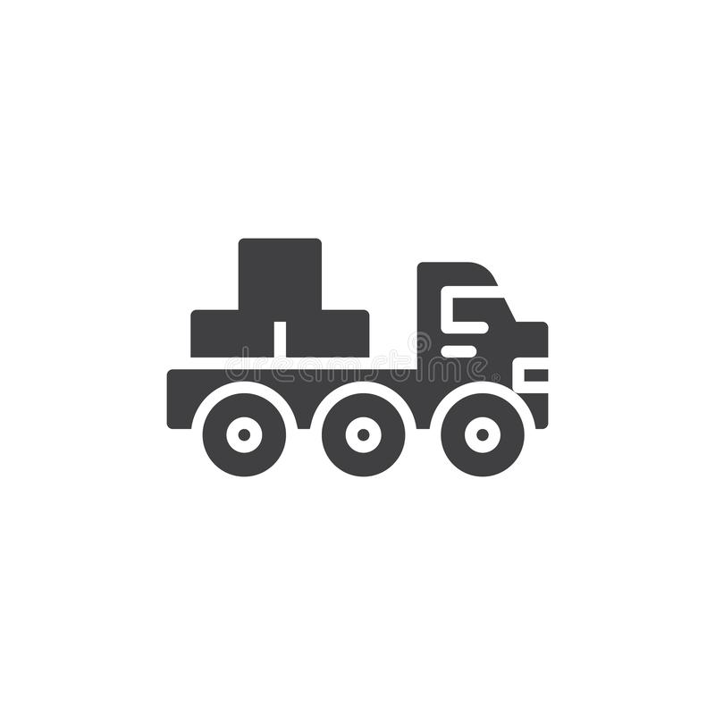 Icono plano del vector del camión libre illustration