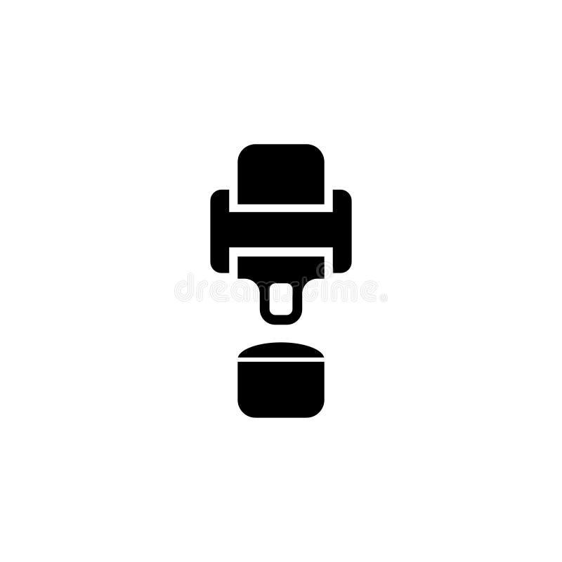 Icono plano del vector del cinturón de seguridad ilustración del vector