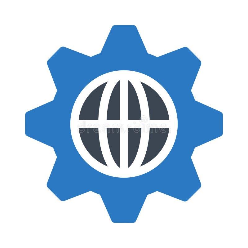 Icono plano del vector del color del glyph del ajuste de navegador libre illustration