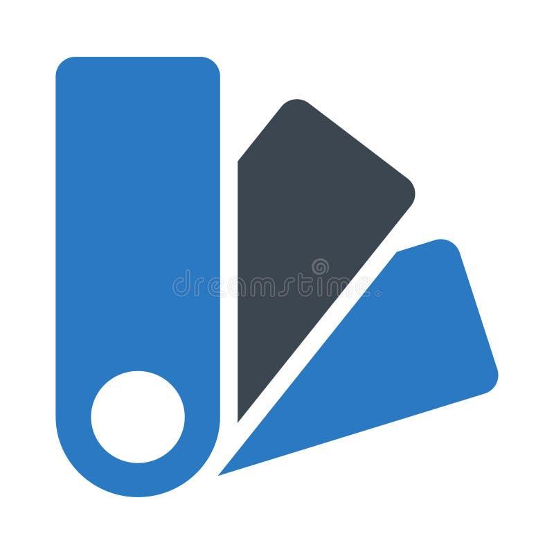 Icono plano del vector del color del glyph del diseño stock de ilustración