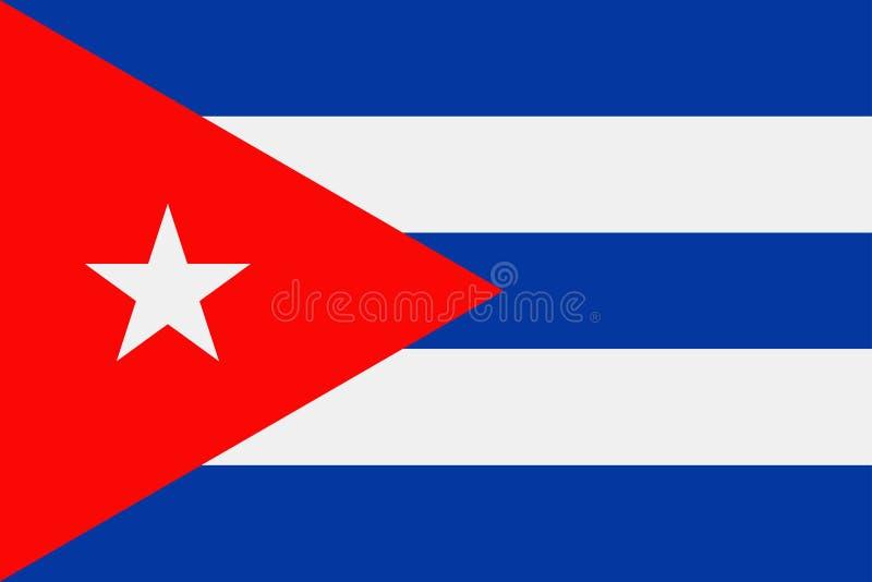 Icono plano del vector de la bandera de Cuba stock de ilustración
