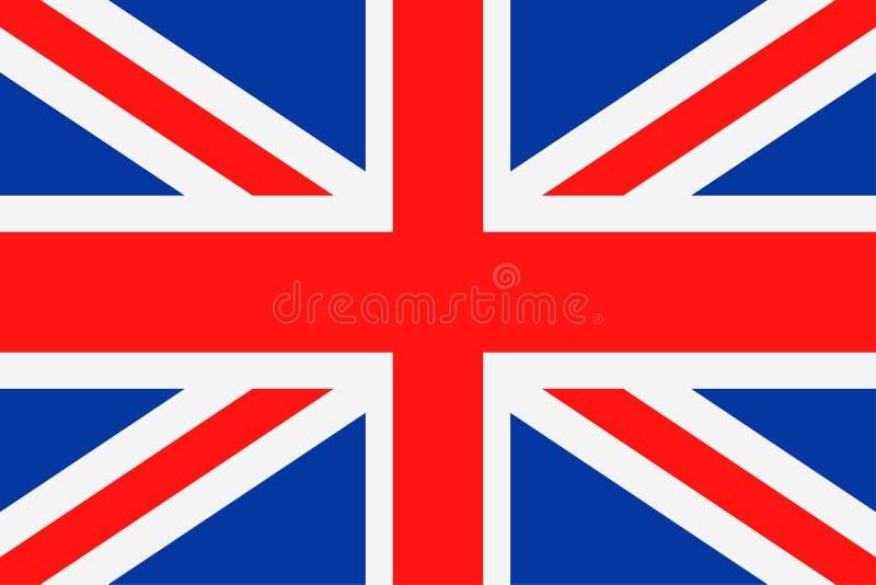 Icono plano del vector de la bandera de Reino Unido stock de ilustración
