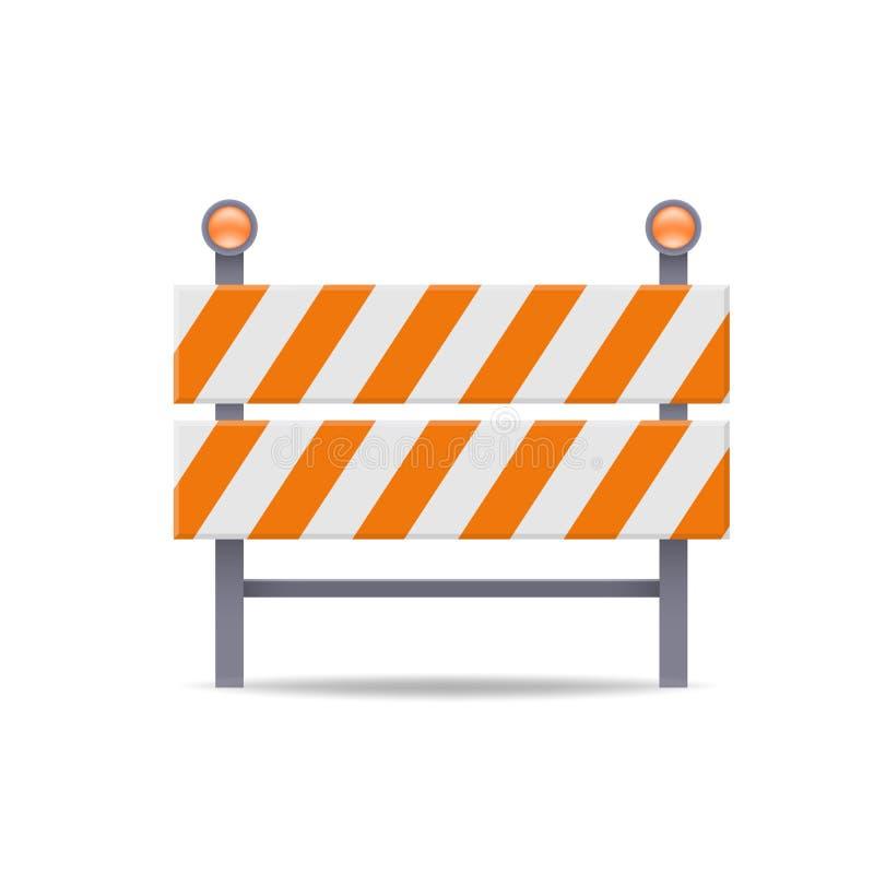 Icono plano del vector de la barrera del camino libre illustration