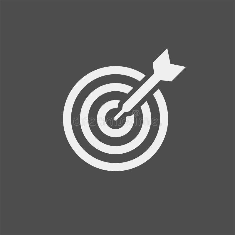 Icono plano del vector de la blanco Icono plano del vector de la diana stock de ilustración