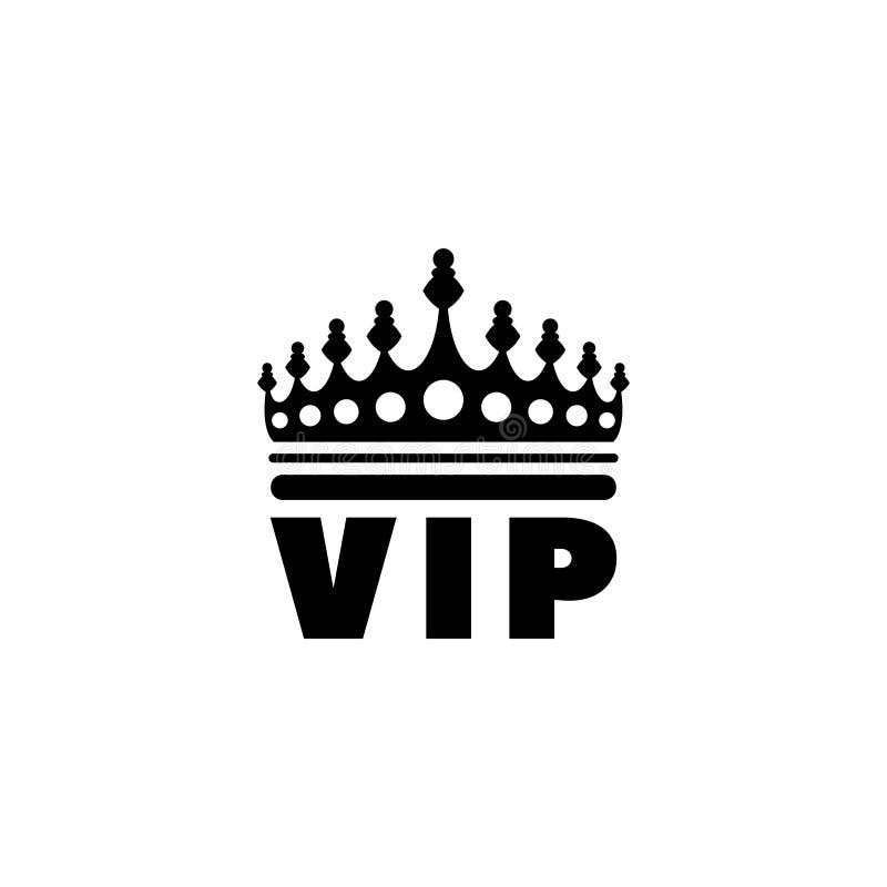 Icono plano del vector de la corona de oro del VIP libre illustration