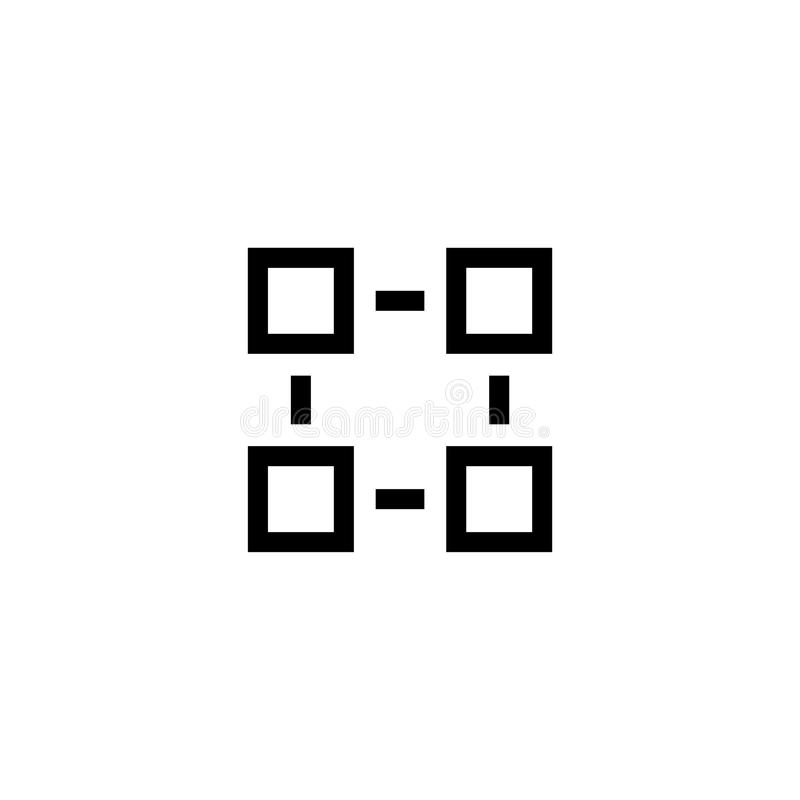 Icono plano del vector de la estructura de organización stock de ilustración
