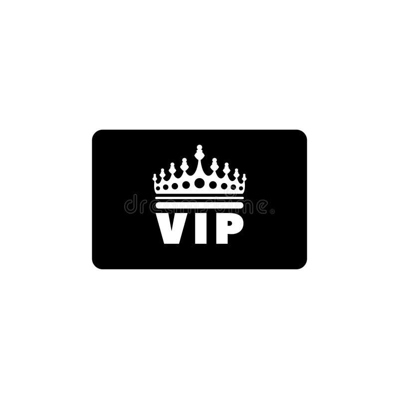 Icono plano del vector de la tarjeta de crédito del VIP stock de ilustración
