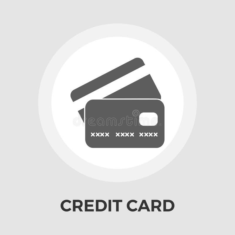 Icono plano del vector de la tarjeta de crédito libre illustration