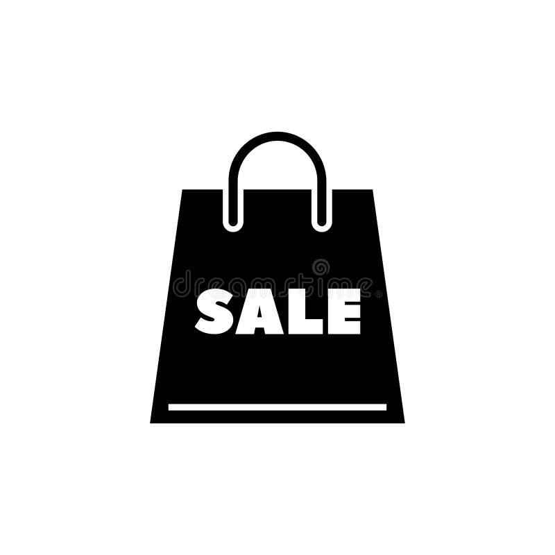 Icono plano del vector de la venta del paquete stock de ilustración