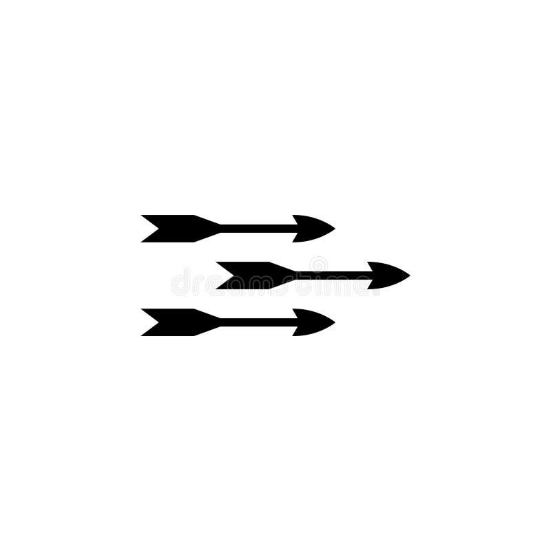 Icono plano del vector de las flechas del vuelo ilustración del vector