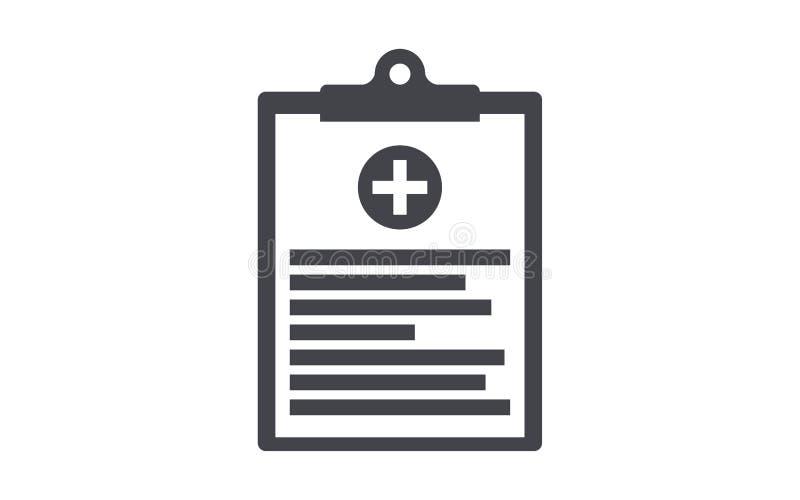 Icono plano del vector del tablero médico libre illustration