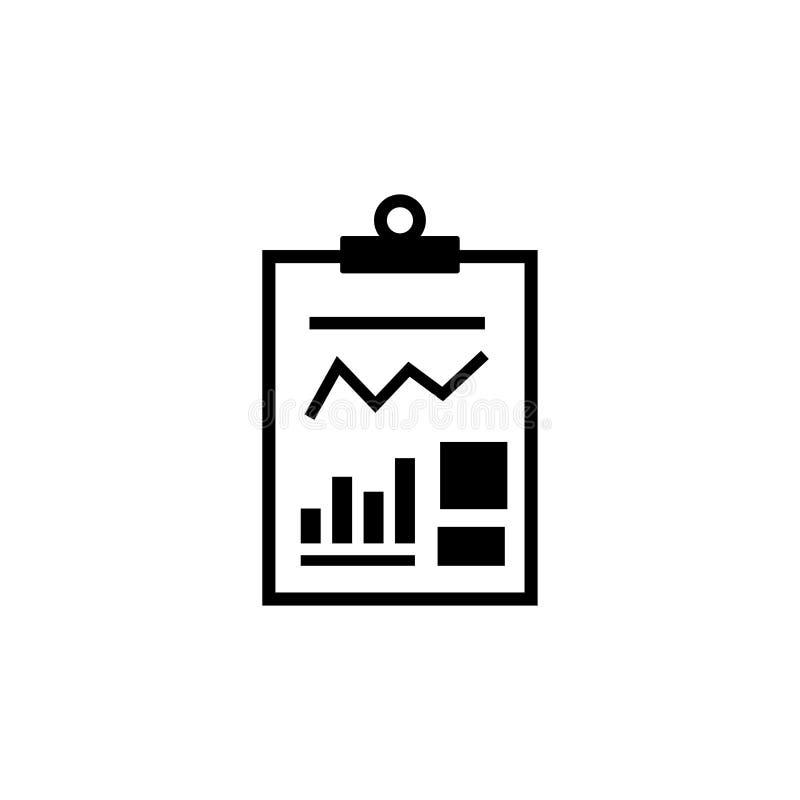 Icono plano del vector del documento financiero del informe de negocios libre illustration