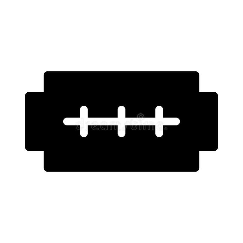 Icono plano del vector del glyph del afeitado libre illustration