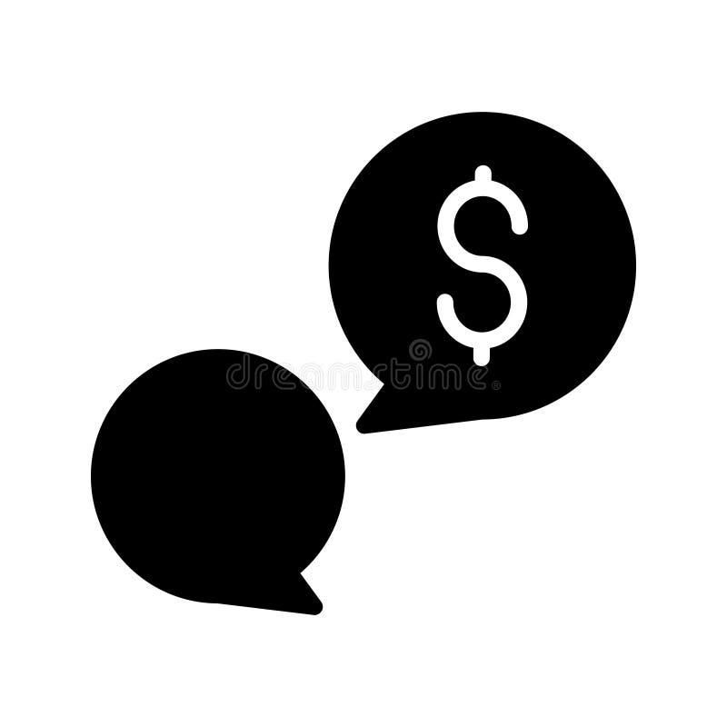 Icono plano del vector del glyph de la conversación stock de ilustración