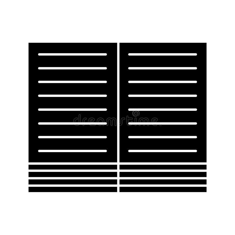 Icono plano del vector para el dise?o web stock de ilustración