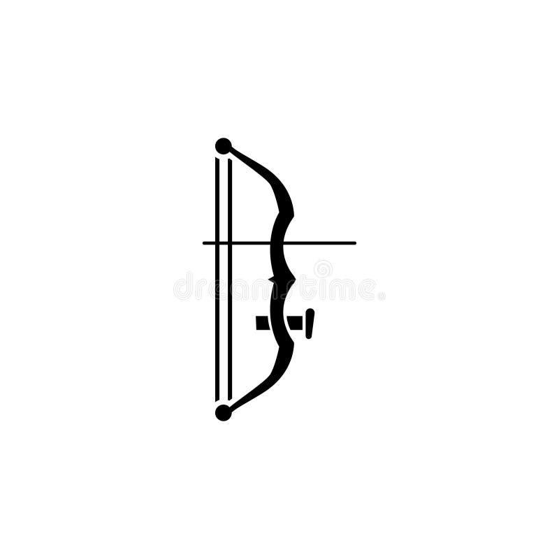 Icono plano del vector del tiro al arco ilustración del vector