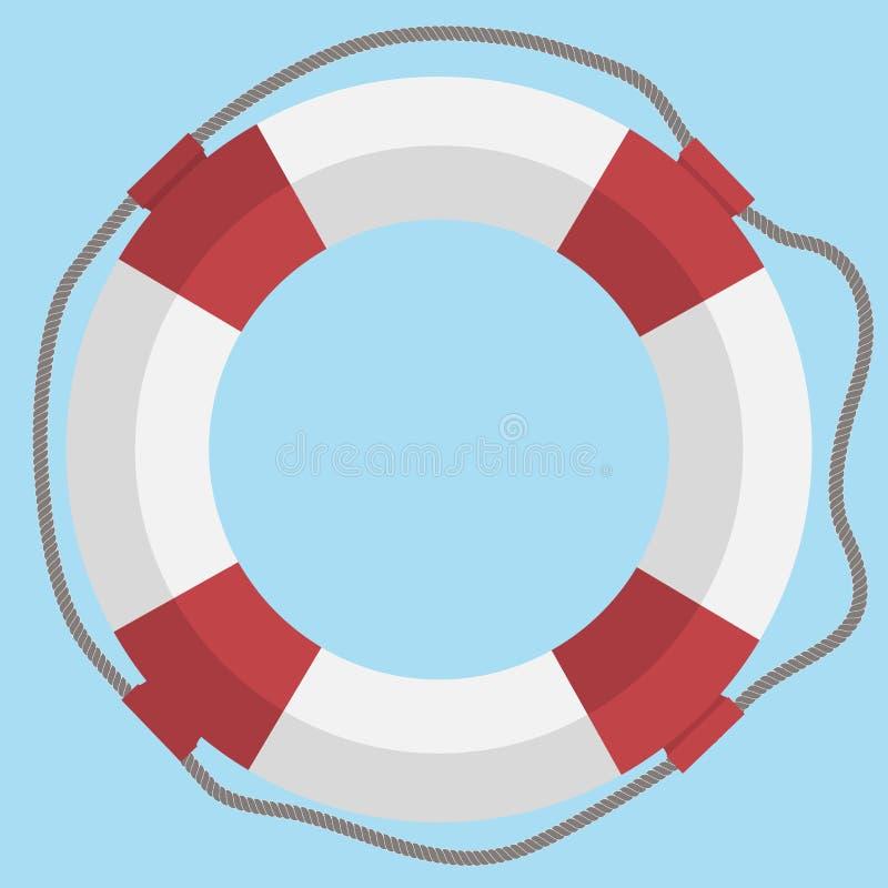 Icono plano del web del salvavidas del vector ilustración del vector