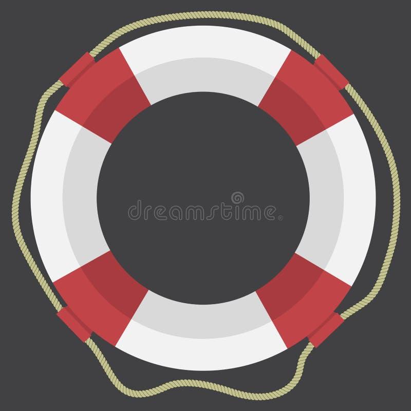 Icono plano del web del salvavidas del vector libre illustration