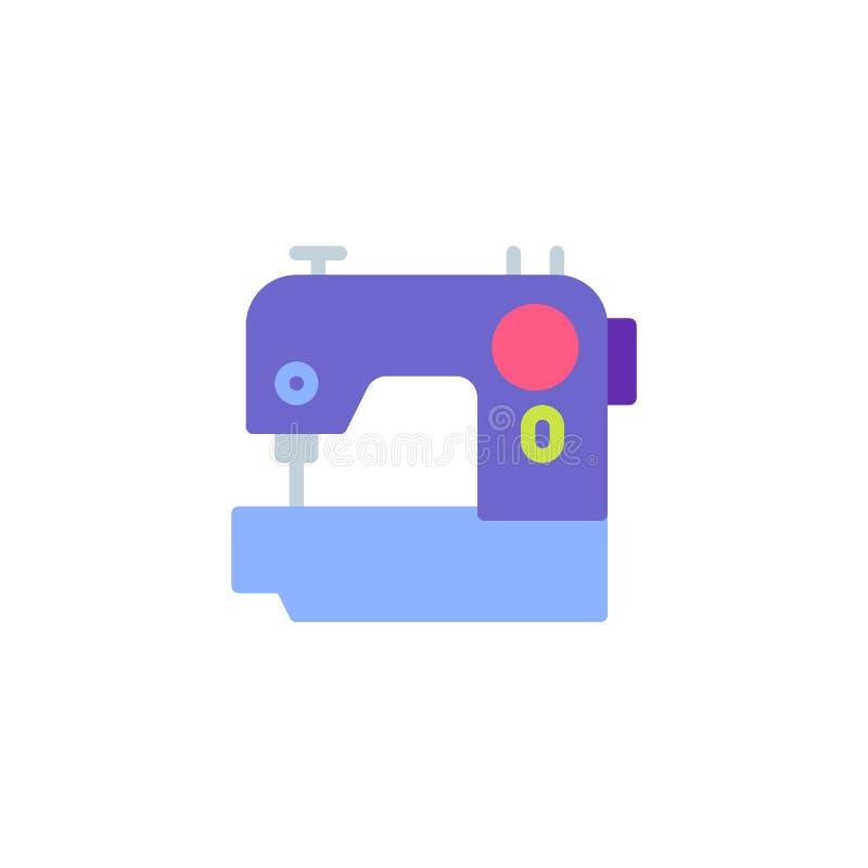 Icono plano eléctrico de la máquina de coser ilustración del vector
