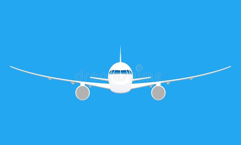 Icono plano Front View del aeroplano Ilustración del vector stock de ilustración