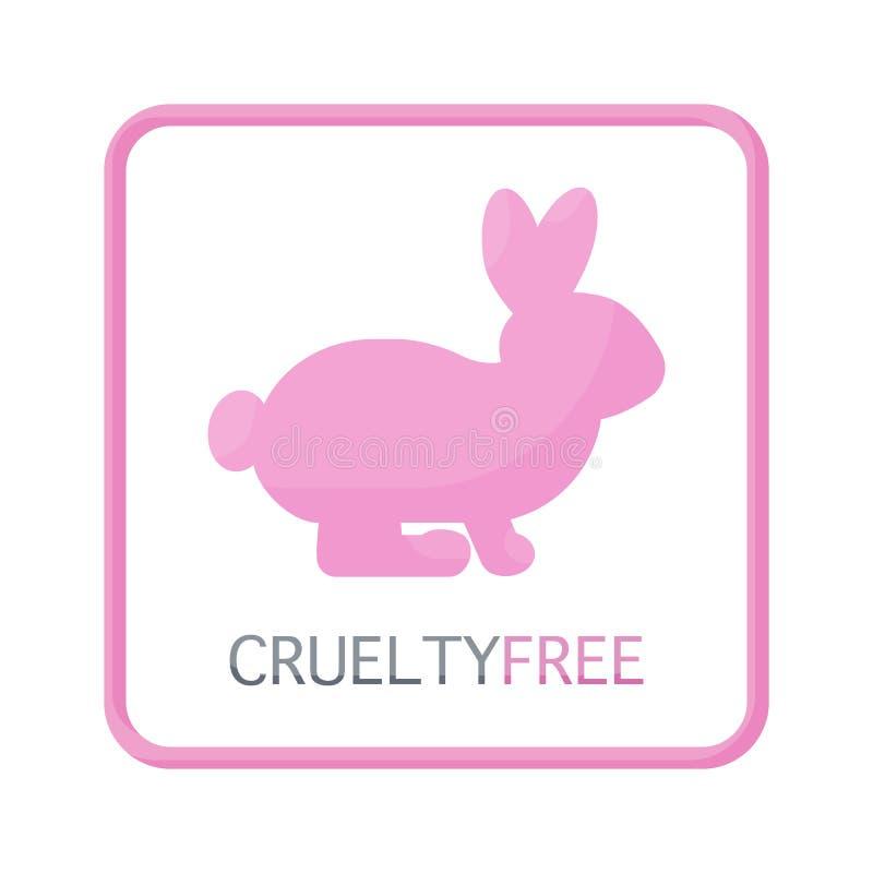 Icono plano libre de la crueldad, libre illustration